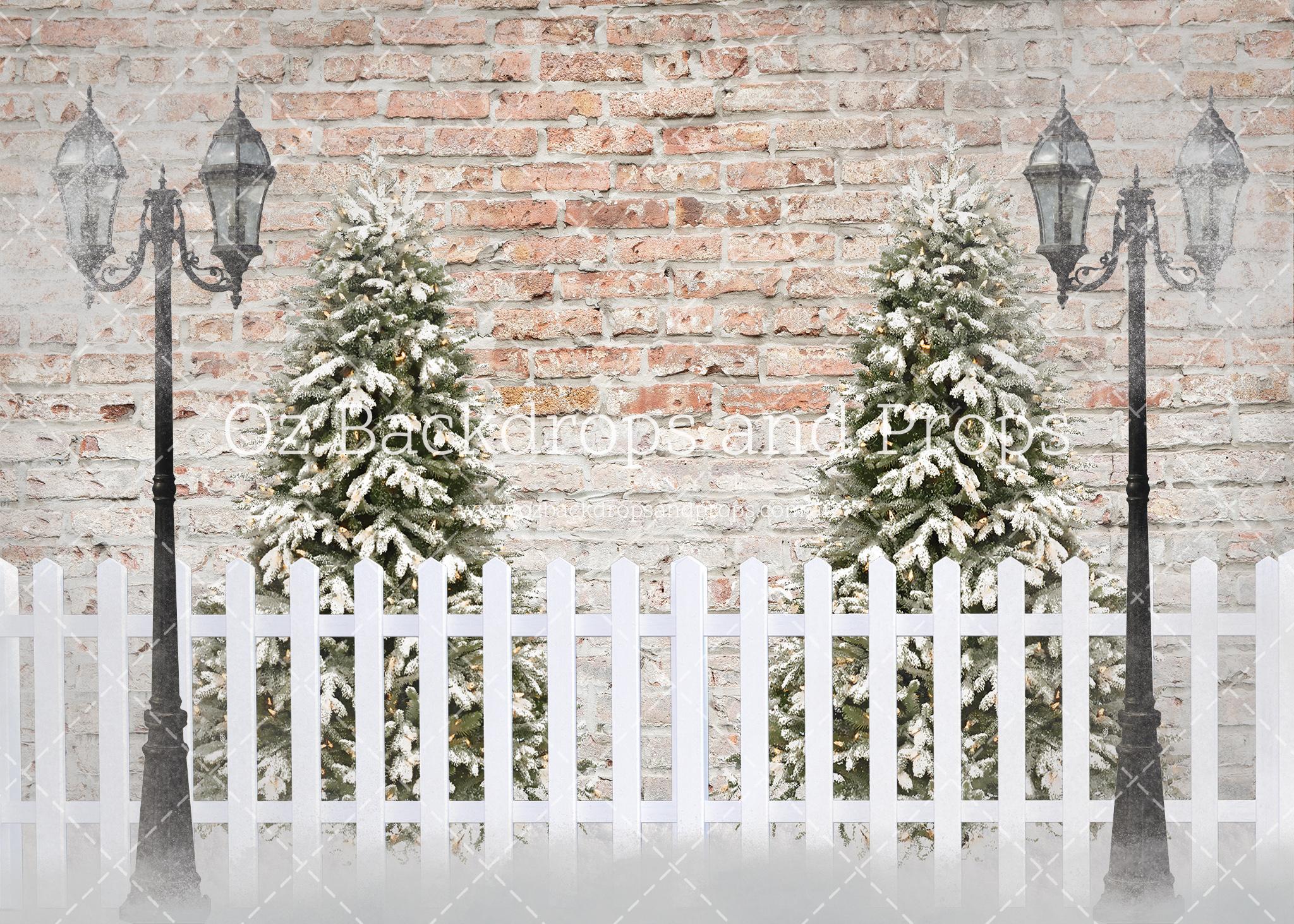 Christmas Brick Double Tree