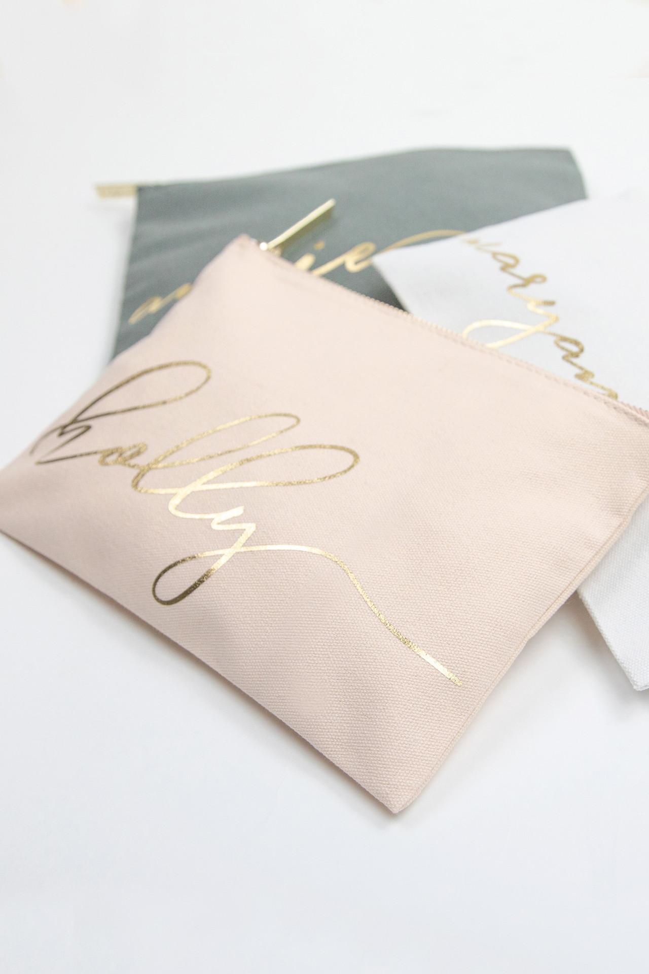 Personalized Monogram Makeup Bag