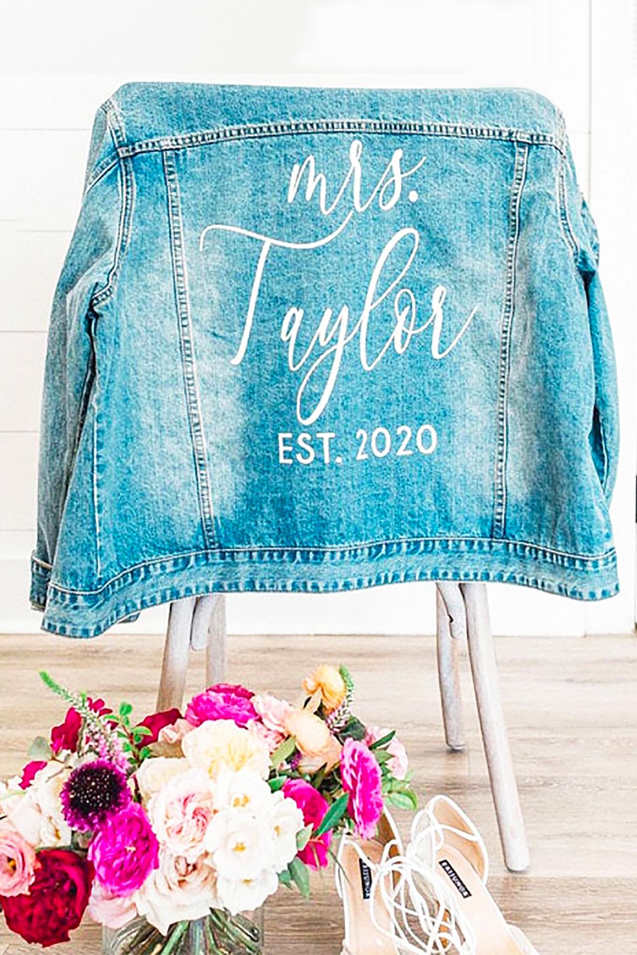 Personalized Bride Denim Jacket
