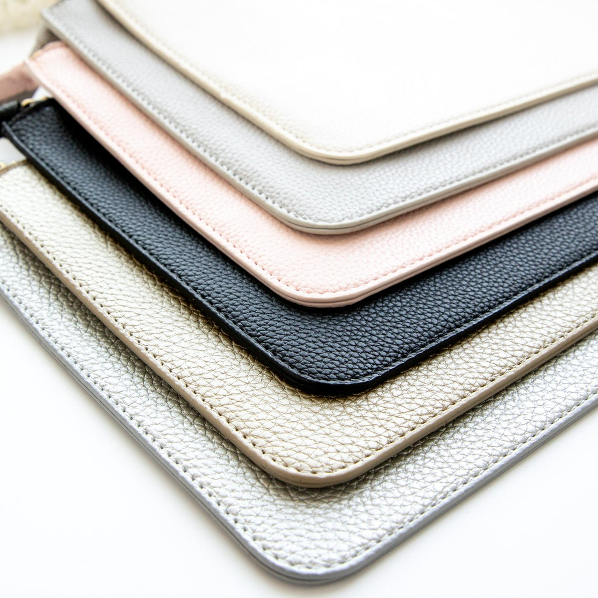 Personalized Vegan Leather Clutch Bag