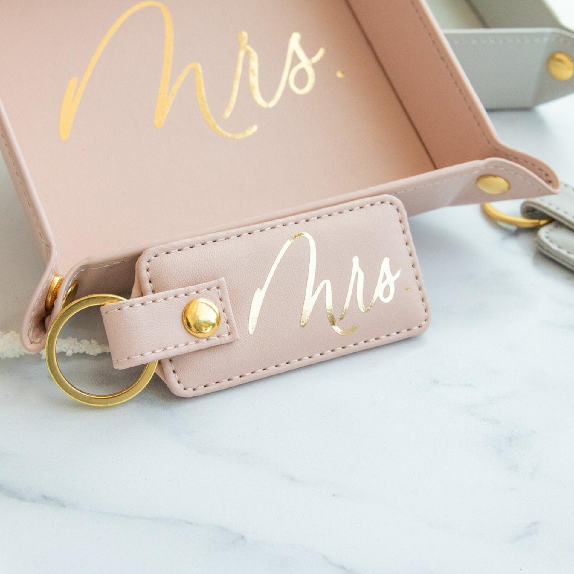 Mr. - Mrs. Vegan Leather Keychain