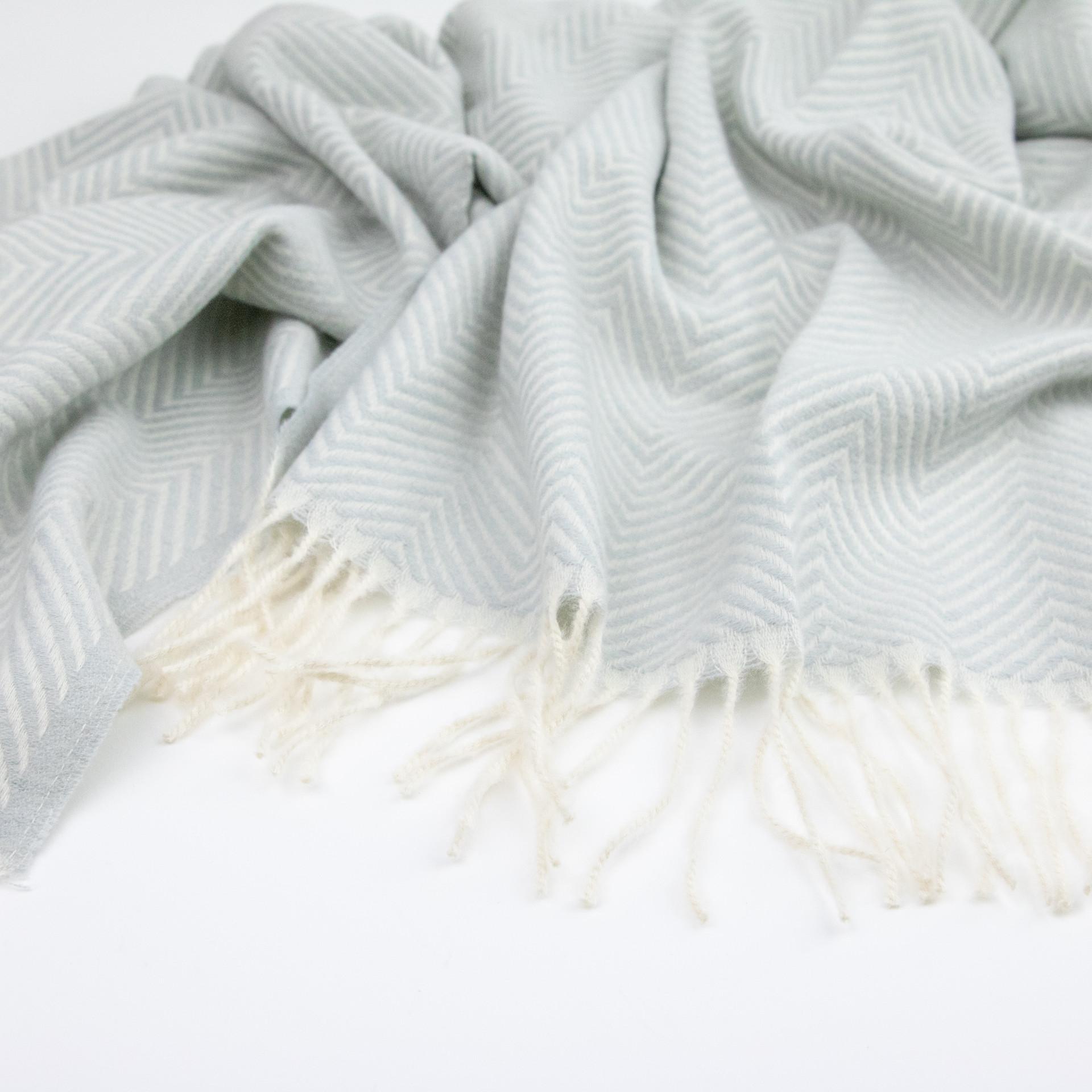 Herringbone Oversized Pashmina - Light Gray