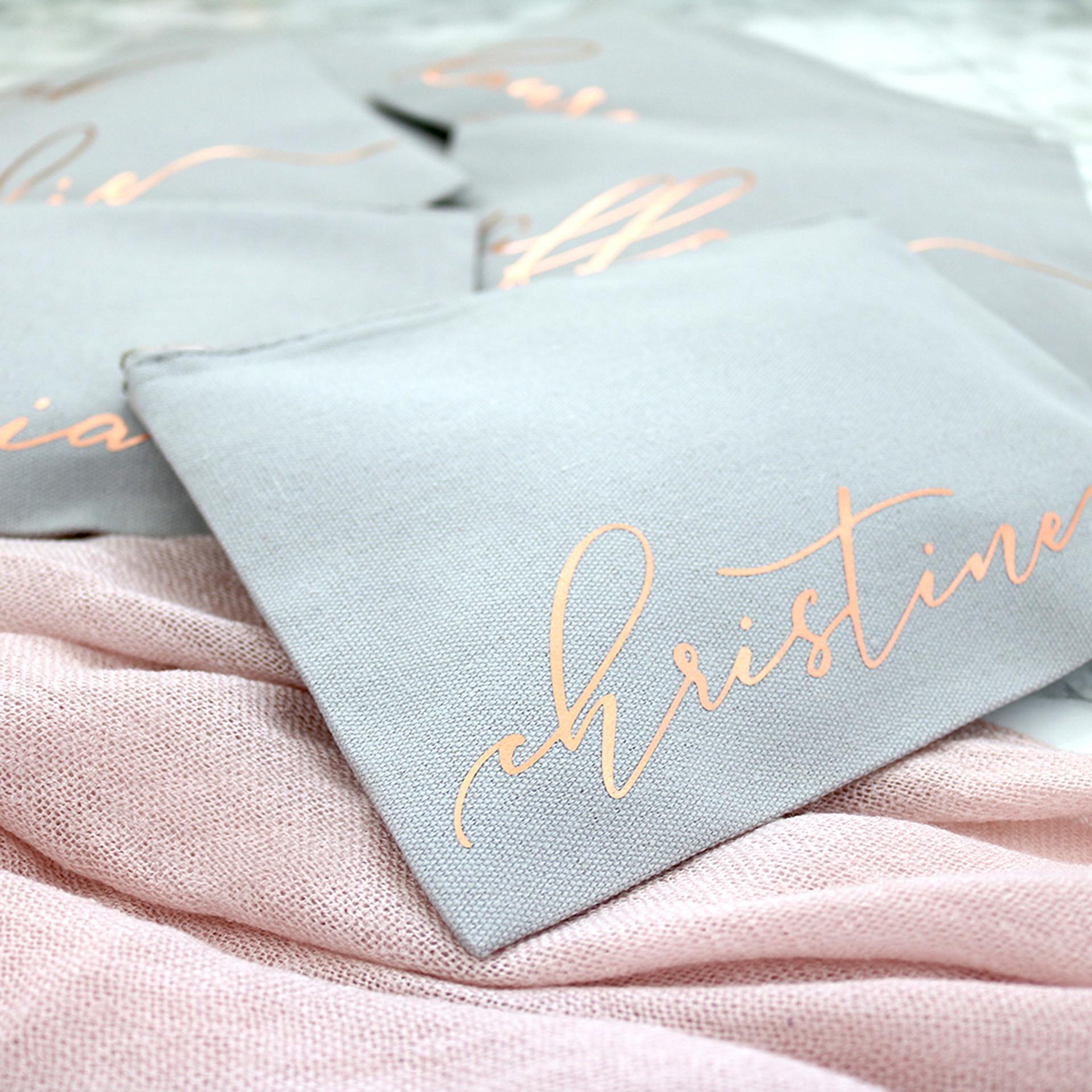Personalized Monogram Makeup Bag - Rose Gold Zip