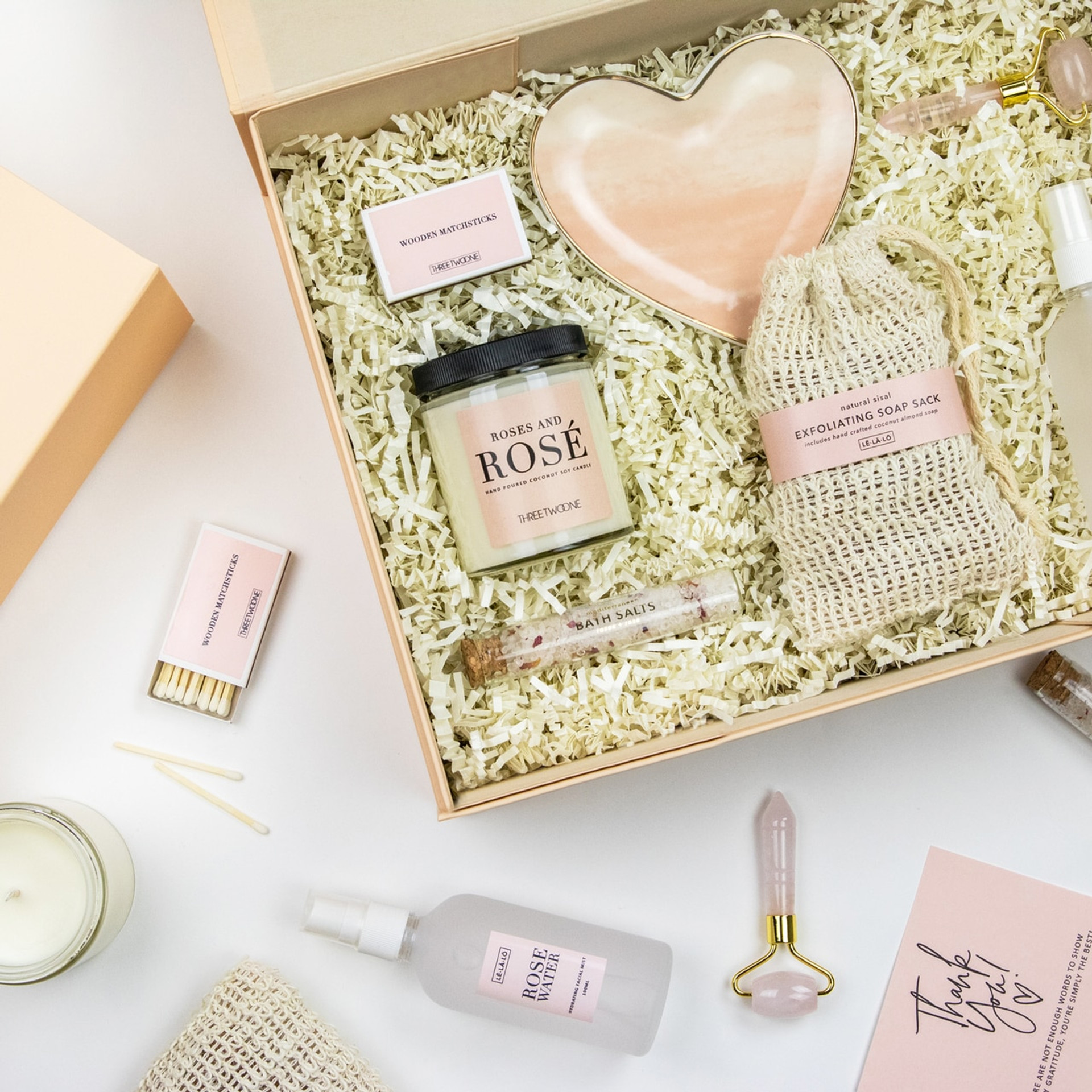 Feel Better Gift Box - Roses and Rosé