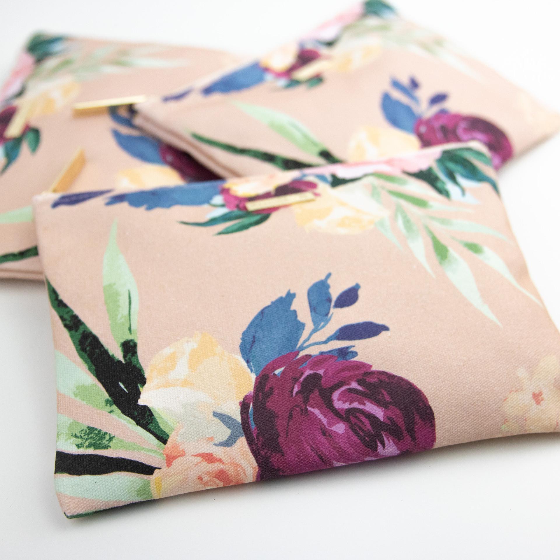 Floral Print Makeup Bag Cosmetic Bag