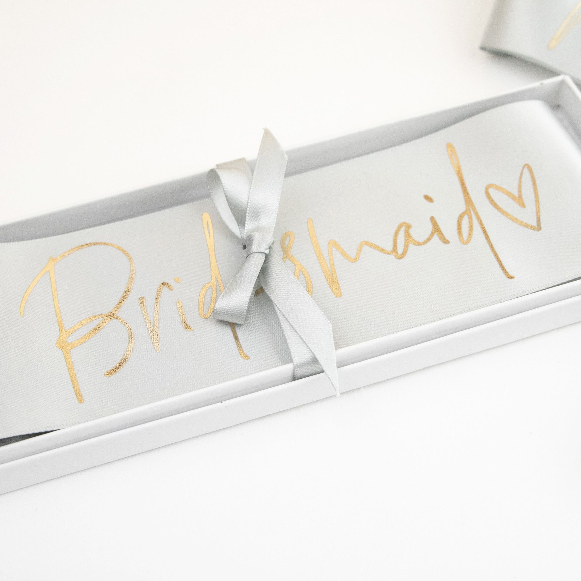 Boxed Bridal Sash - Maid of Honor