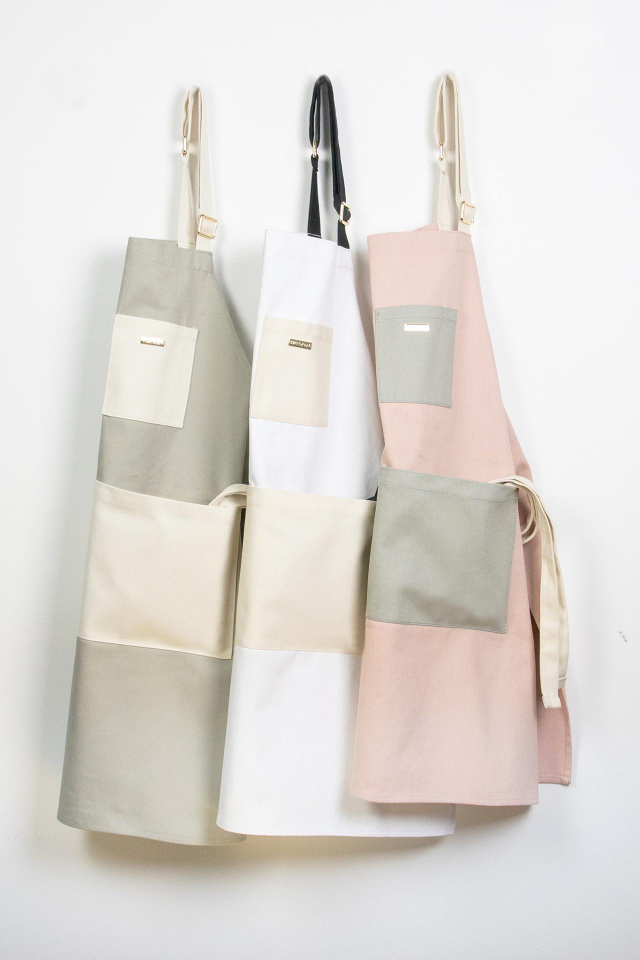 Colorblock Apron - Gray