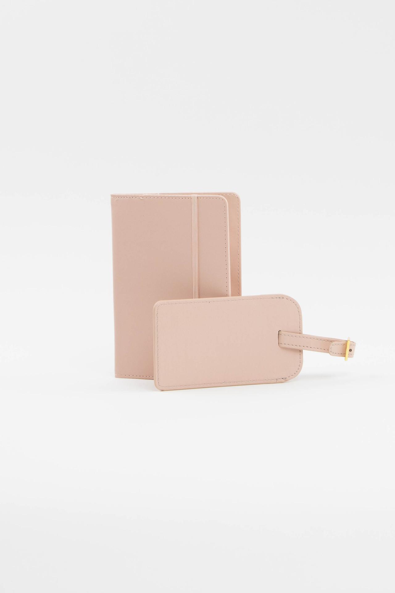 Blush Luggage Tag + Passport Holder