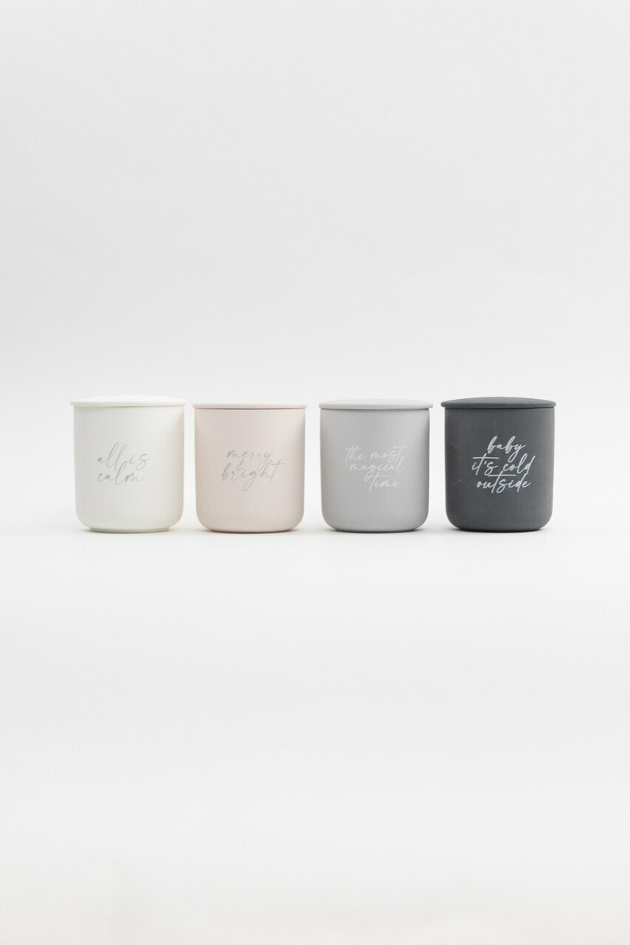 Merry & Bright Soy Candle With Lid