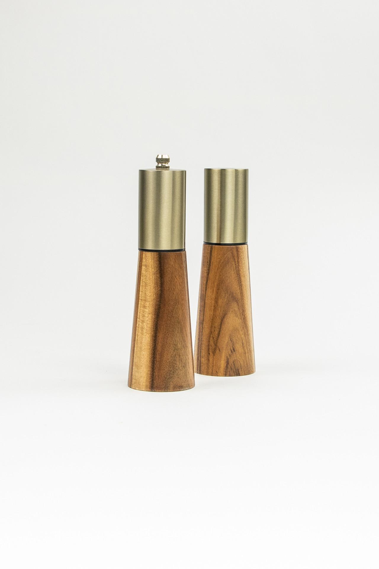 Acacia Wood Salt and Pepper Shaker Set
