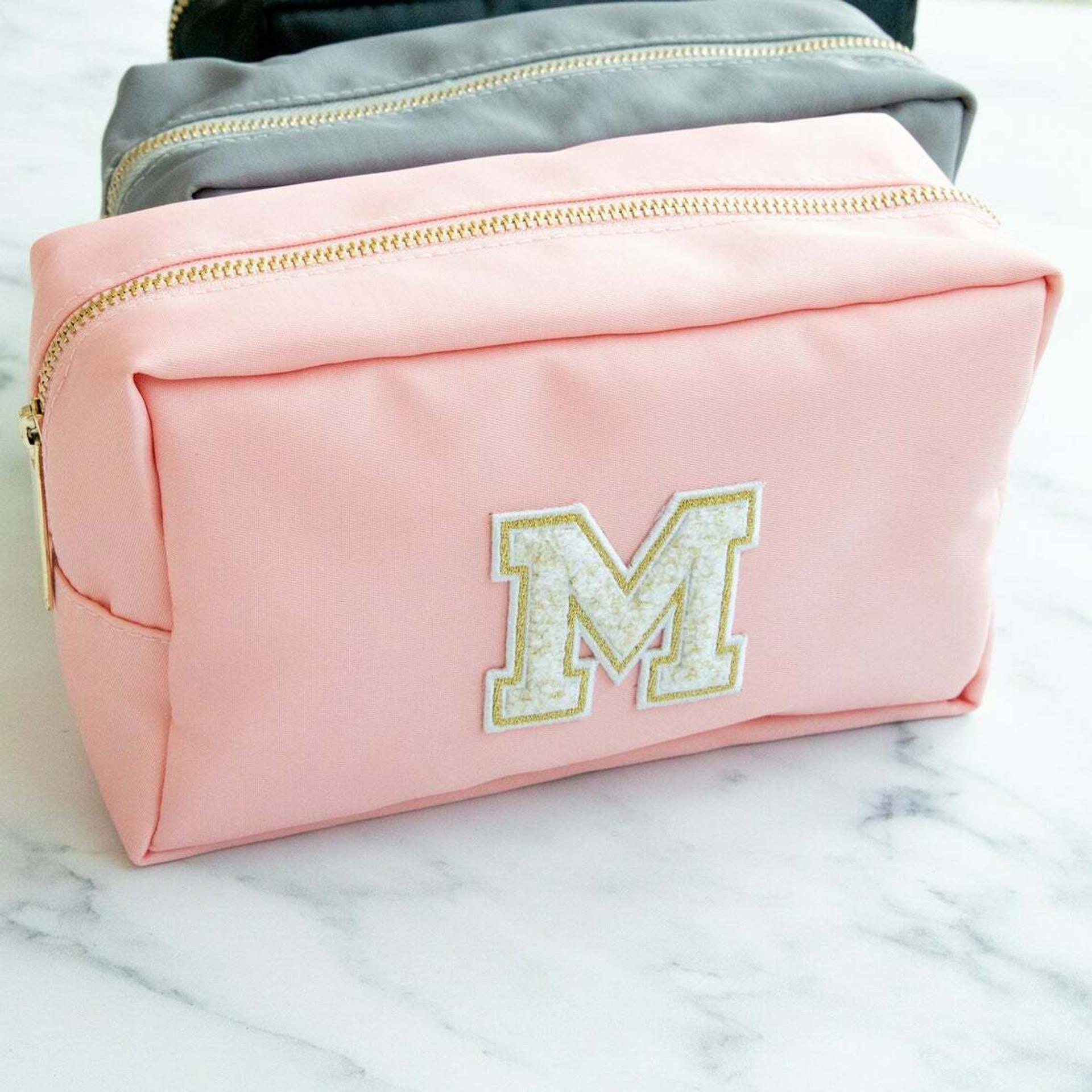 Chenille Personalized Nylon Makeup Bag
