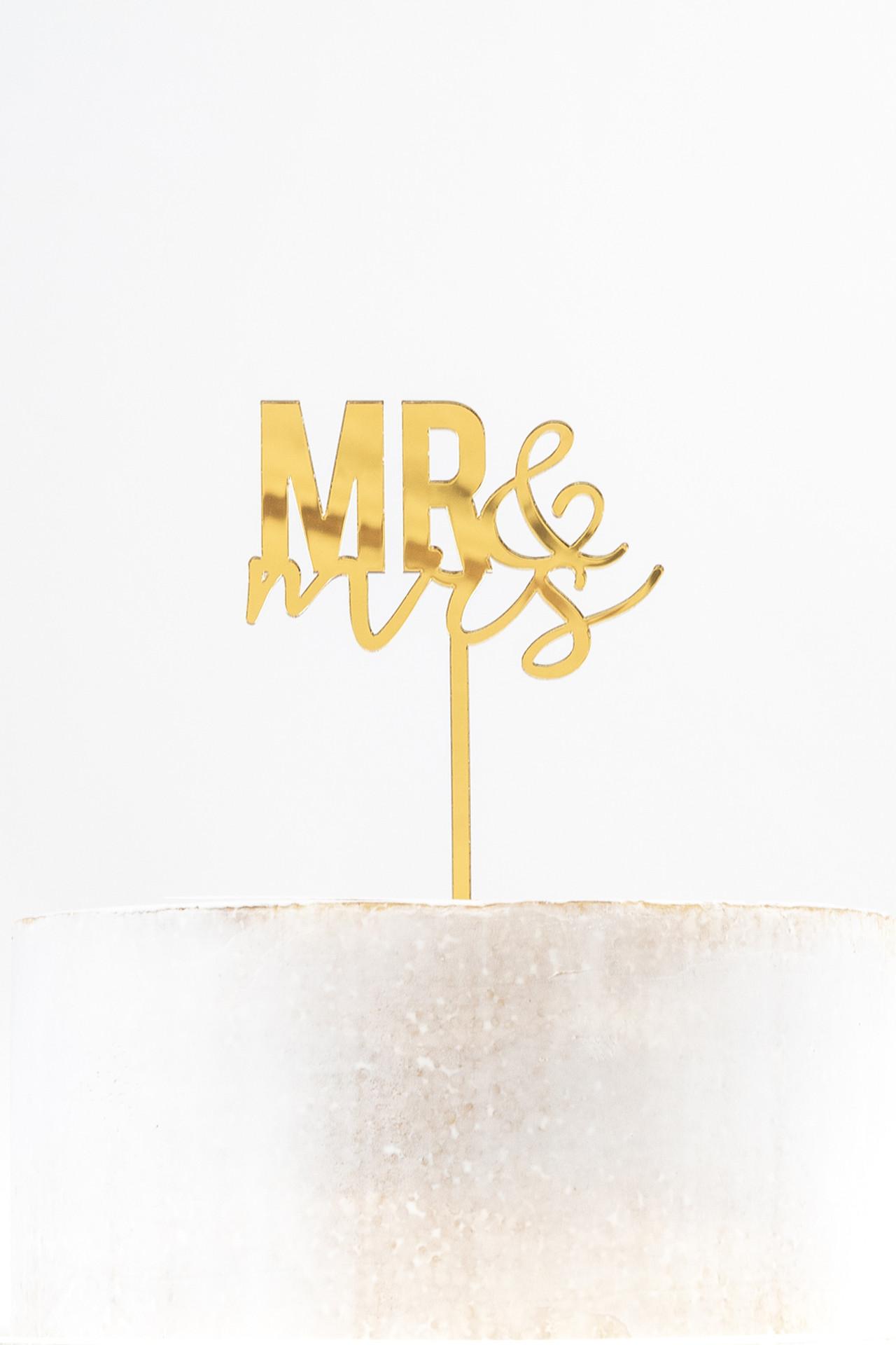 Acrylic Cake Topper - Mr & Mrs
