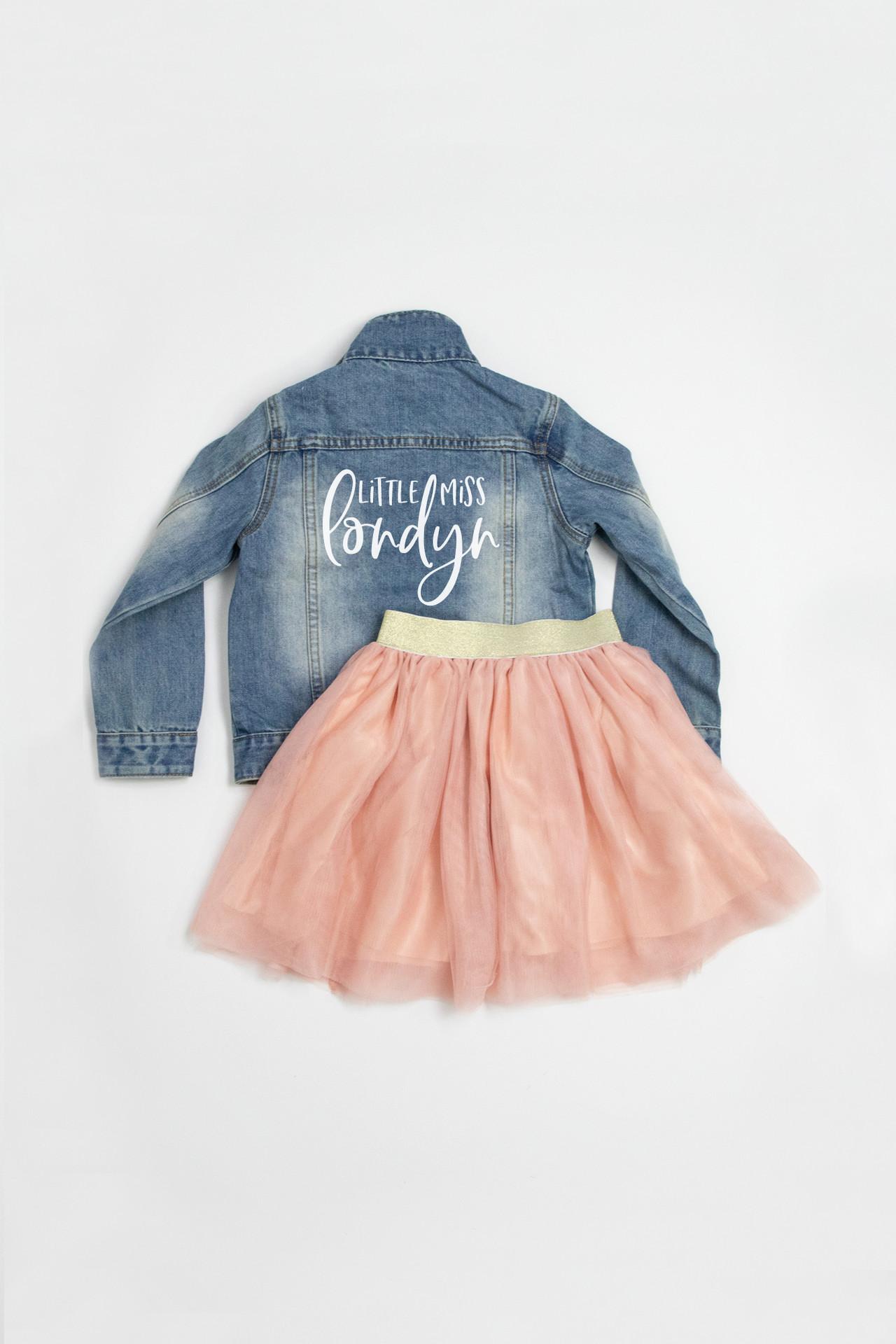 Girls Denim Jacket - Personalized