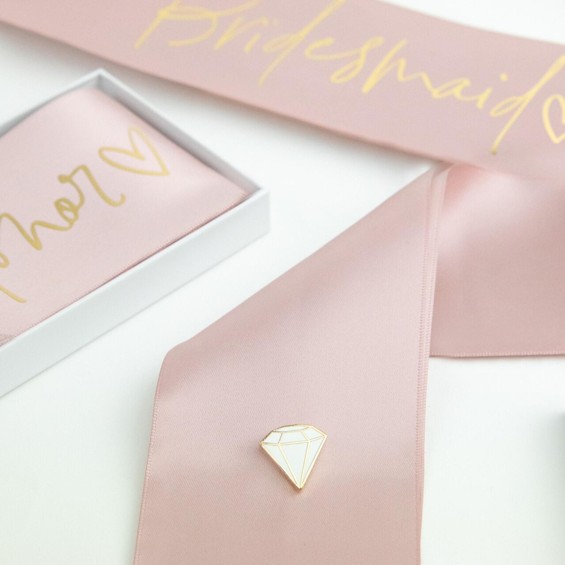 Boxed Script Bridal Sash - Bridesmaid