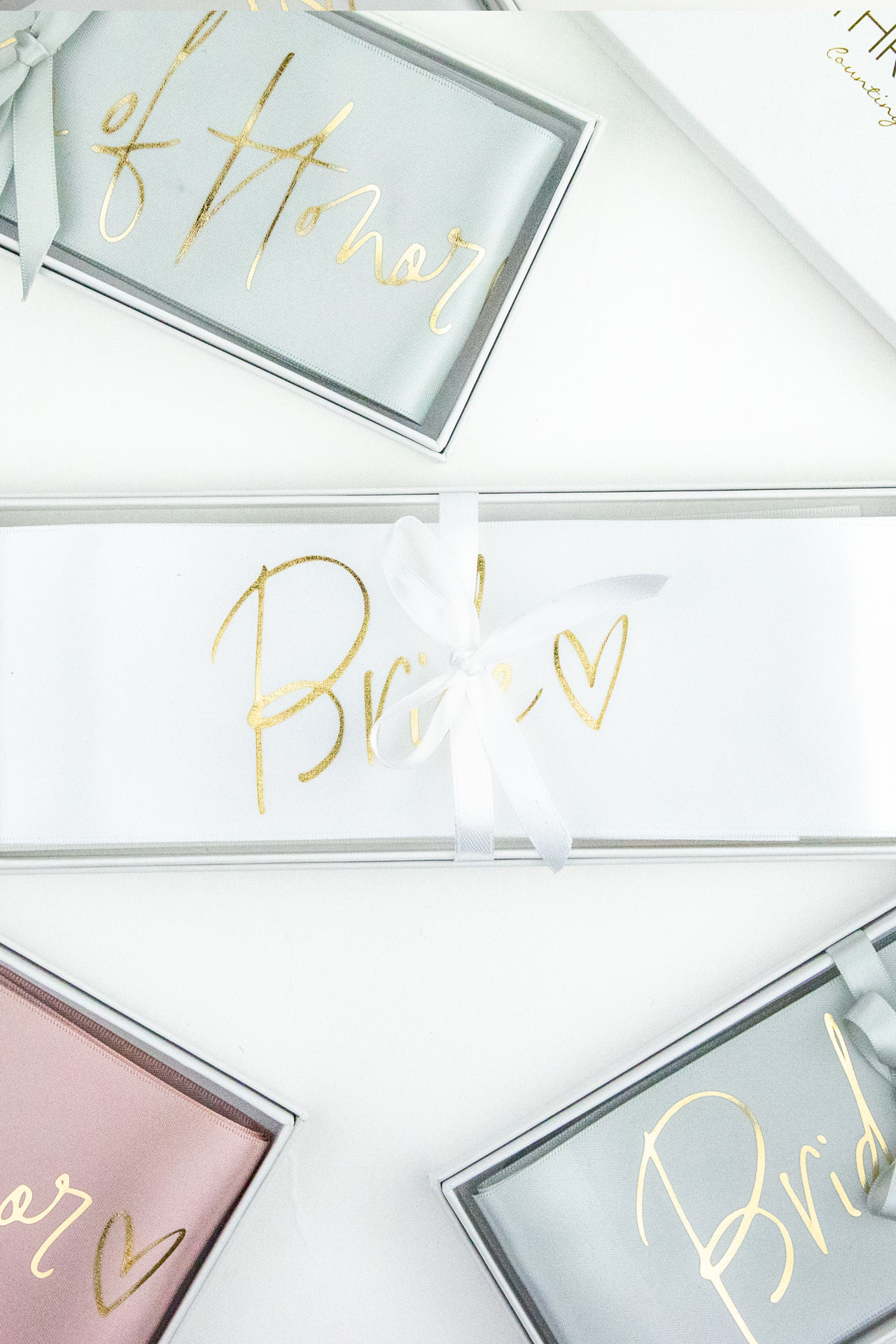 Boxed Script Bridal Sash - Bride