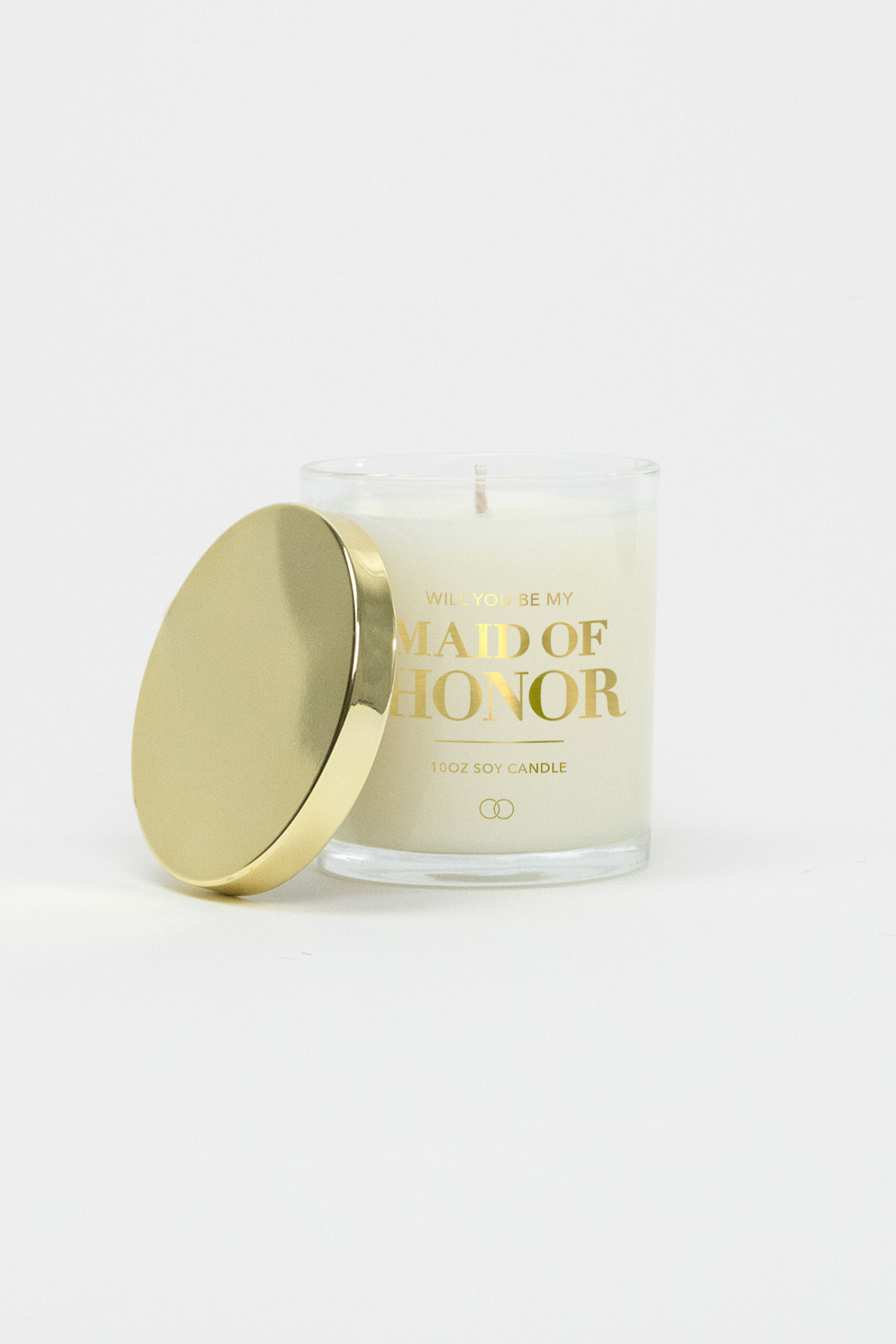 Celebration Glass Soy Candle - Maid of Honor (Gold)