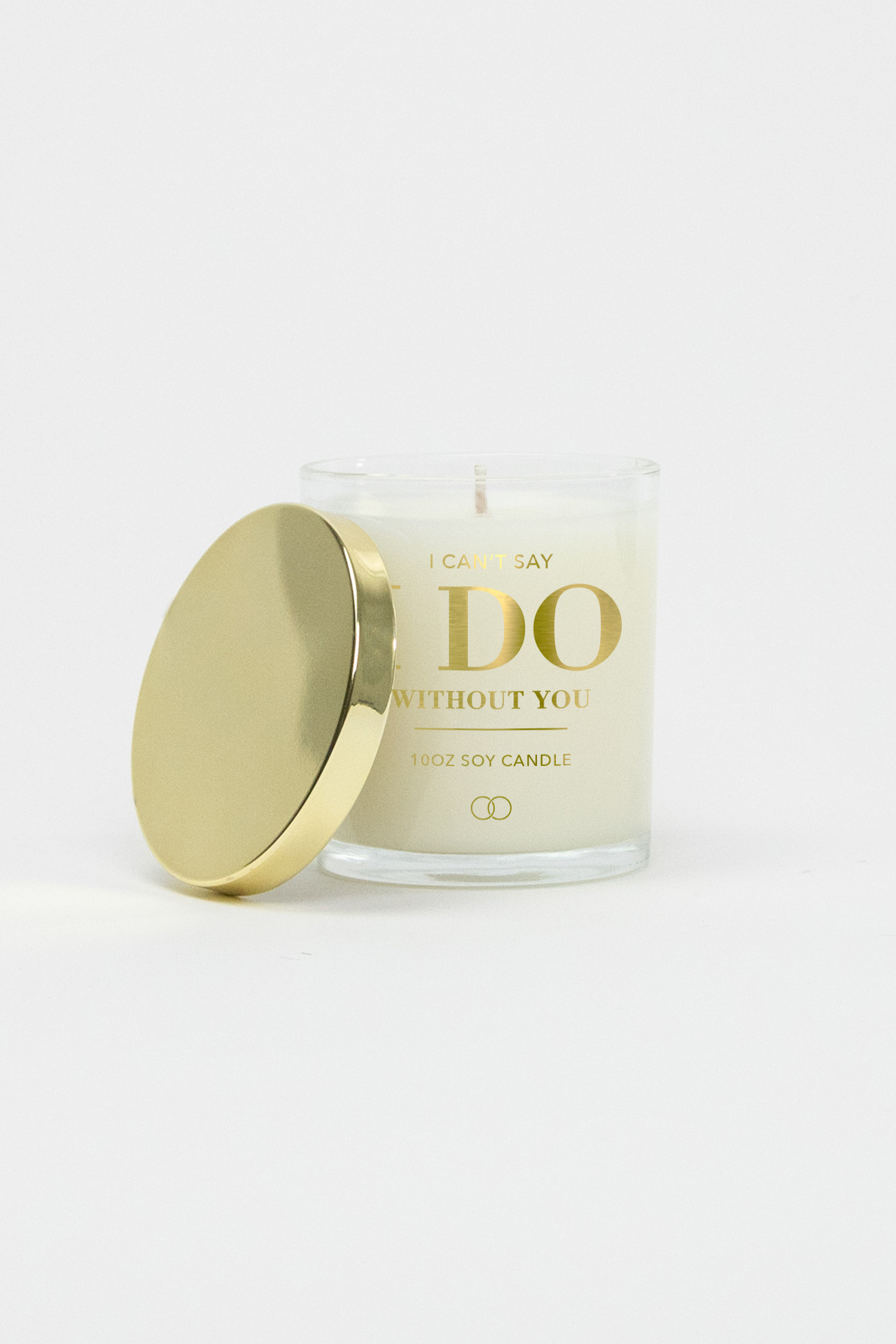 Celebration Glass Soy Candle - Can't Say I Do (Gold)