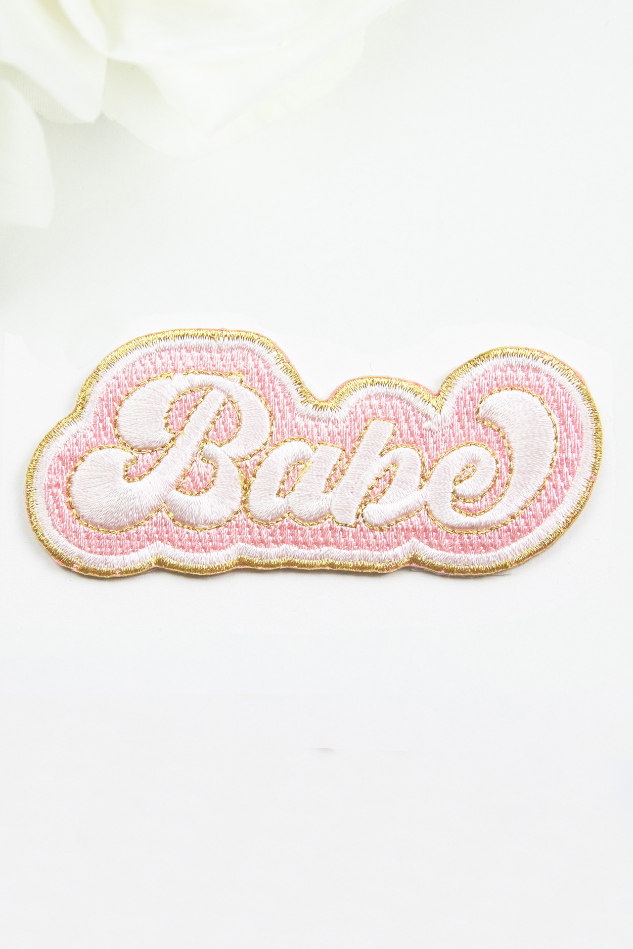 Embroidery Adhesive Bridal Patch - Babe