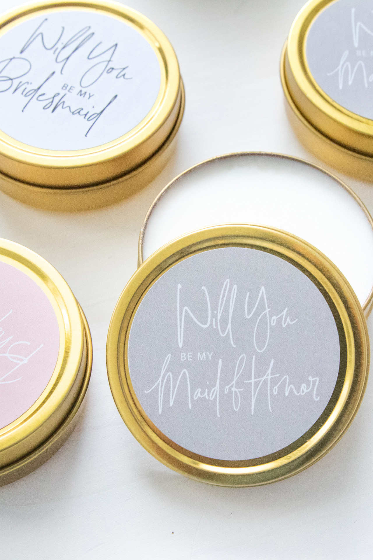 Set of 6 Travel Candles - Bridal Party Proposal