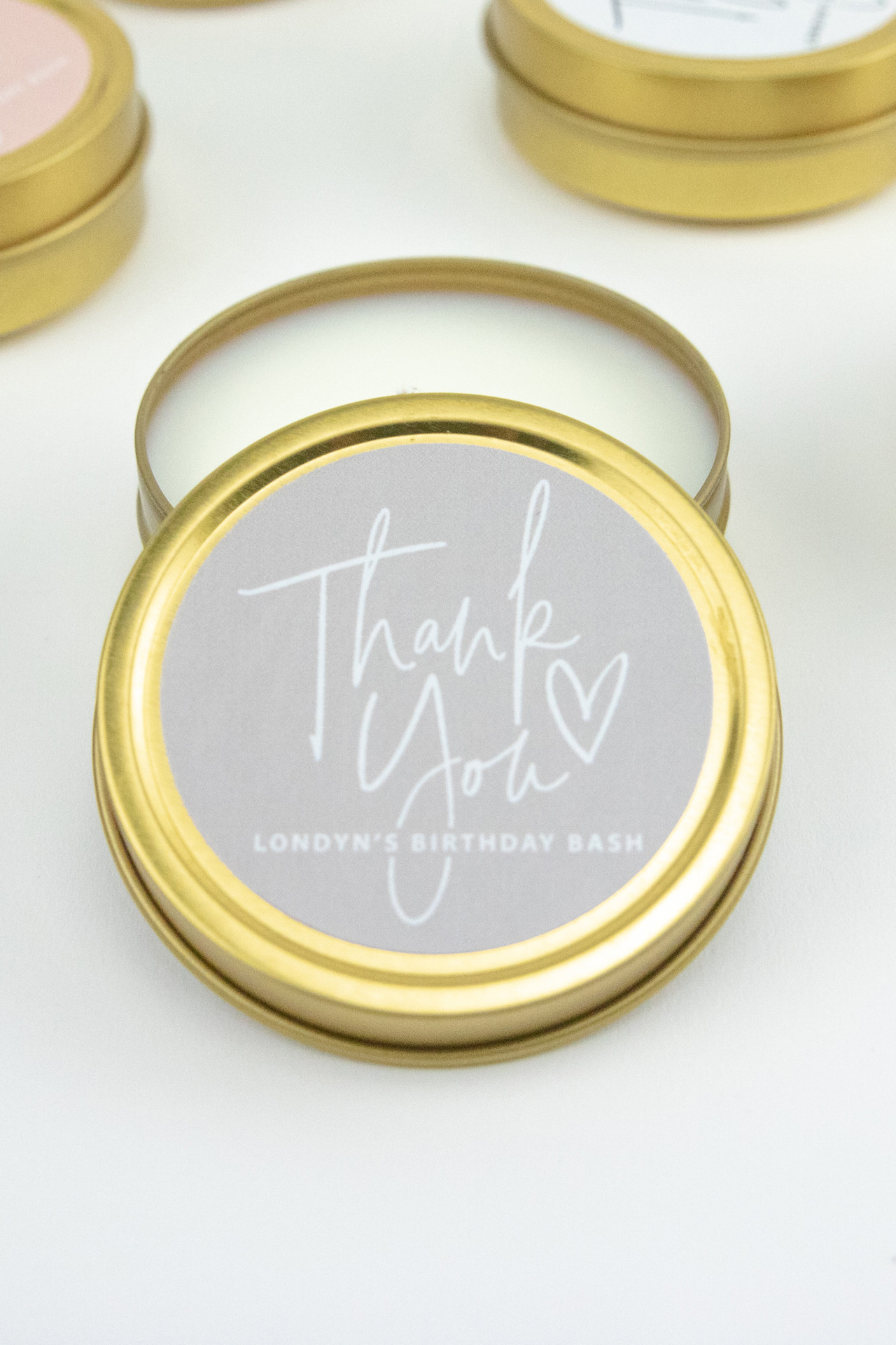 Set of 6 Travel Candles - Thank You