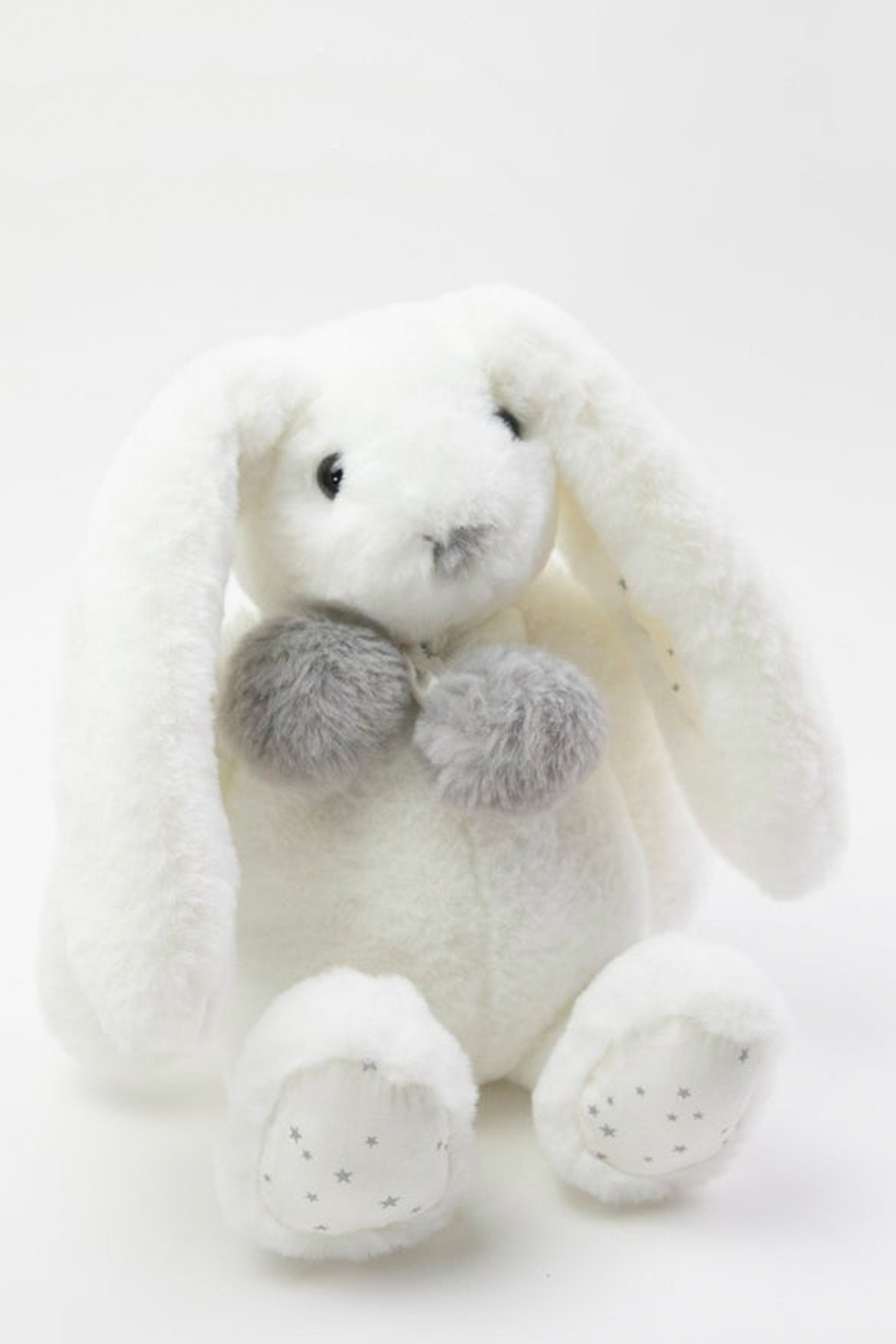 Gray and White Bunny