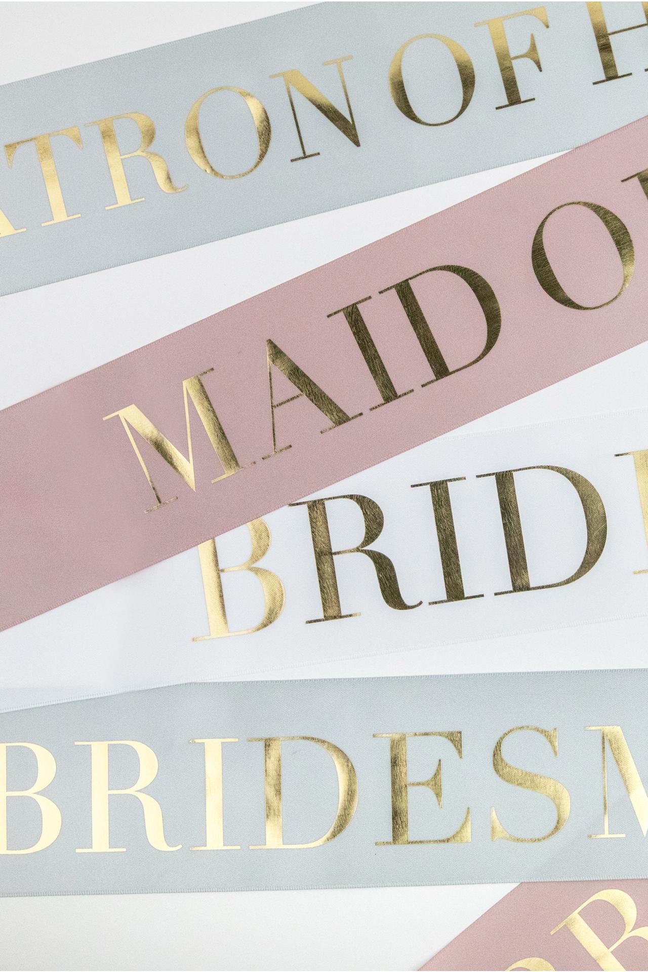 Boxed Bridal Sash - Maid of Honor