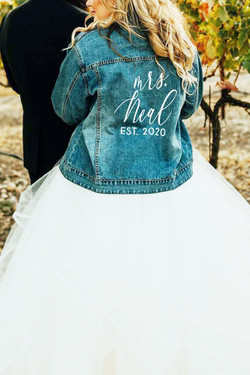 Personalized Bride Denim Jacket
