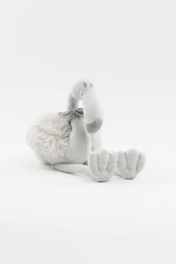 Flamingo Plush Stuffed Animal - Gray