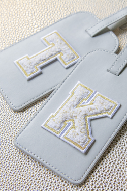 Luggage Tag + Chenille Letter Patch
