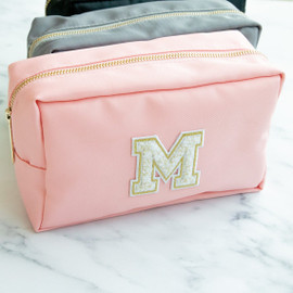 Chenille Personalized Nylon Makeup Bag