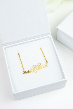 Bridal Party Necklace - Maid of Honor