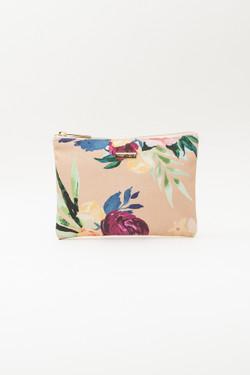 Floral Print Makeup Bag