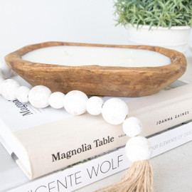 Rustic Dough Bowl Soy Candle
