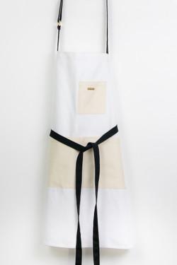 Colorblock Apron - White