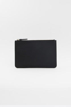Black Vegan Leather Clutch