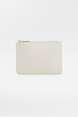 Créme Vegan Leather Clutch