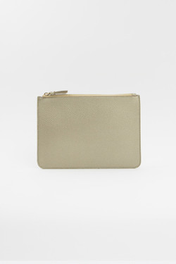 Gold Vegan Leather Clutch