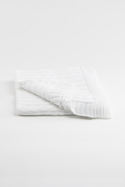 Heirloom Keepsake Baby Blanket - White