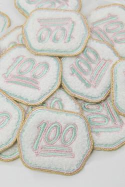 Chenille Emoji Adhesive Patch - 100