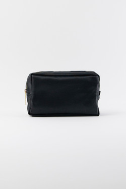 Nylon Makeup Bag - Black