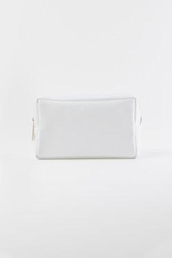 Nylon Makeup Bag - White