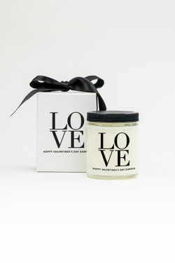 Personalized Soy Candle - Love