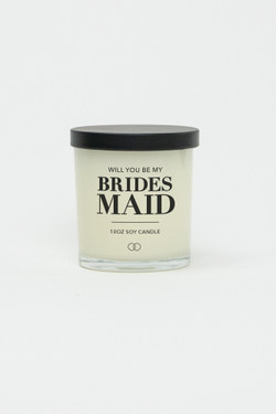 Celebration Glass Soy Candle - Bridesmaid (Black)