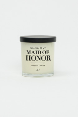 Celebration Glass Soy Candle - Maid of Honor (Black)