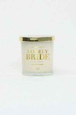 Celebration Glass Soy Candle - Lovely Bride (Gold)