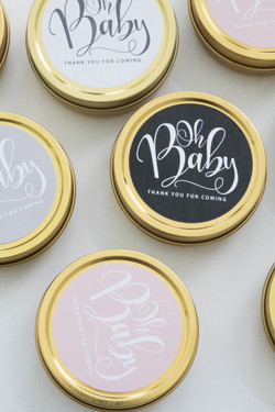 Set of 6 Travel Candles - Oh Baby