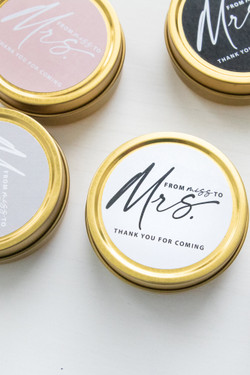 Set of 6 Travel Candles - Miss to Mrs