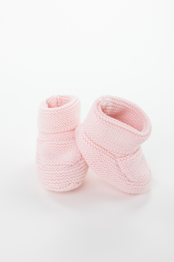 Blush Knit Baby Booties