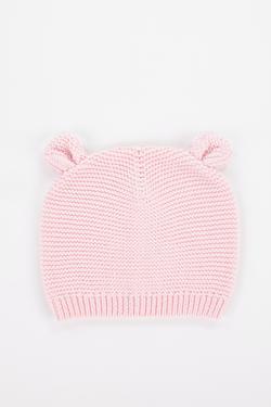 Blush Knit Baby Bear Beanie