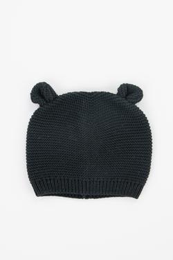 Black Knit Baby Bear Beanie